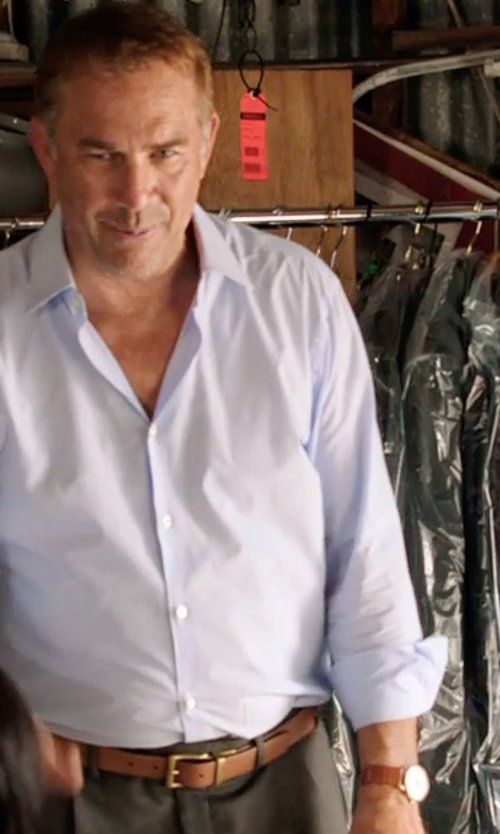 Kevin Costner with Michael Kors Pennant Chronograph Leather Strap Watch in Black or White