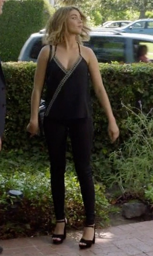 Sarah Hyland with Steve Madden Keirra Heel Sandals in Modern Family
