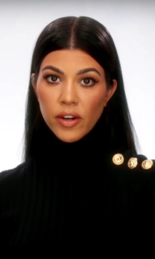 Kourtney Kardashian with Kyna Collection Turtle Neck in Keeping Up With The Kardashians