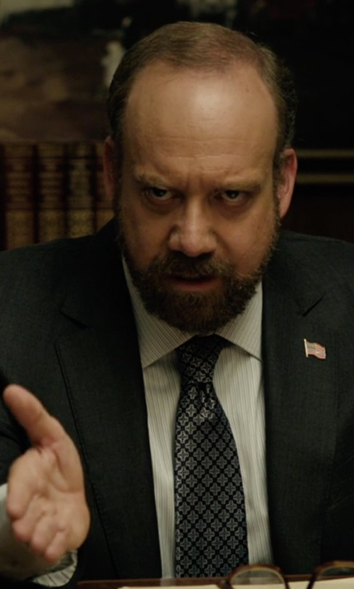 Paul Giamatti with Ralph Lauren Black Label Glen Plaid Two-Button Anthony Suit in Billions