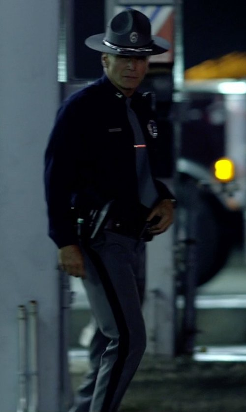 Nick Chinlund with Horace Small Sentry Plus Florida Sheriff Trousers in Need for Speed