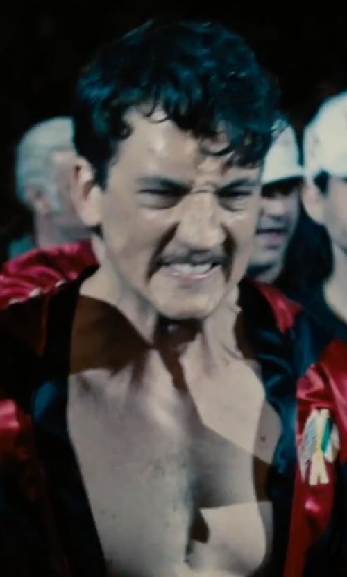Miles Teller with Amber Satin Boxing Robe in Bleed for This