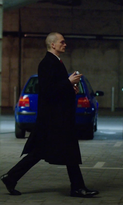 Rupert Friend with Maison Margiela Long Overcoat in Hitman: Agent 47