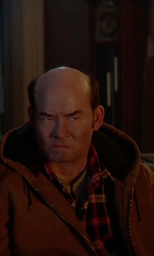 David Koechner with Lucky Brand Duofold Double Faced Knit Long Sleeve Henley Shirt in Krampus