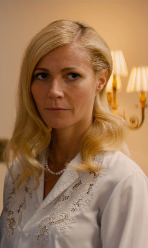 Gwyneth Paltrow with Nina Ricci Long Sleeve Blouse in Mortdecai