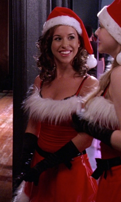 Lacey Chabert with Acefast Inc Sexy Santa Claus Lingerie Xmas Costume in Mean Girls