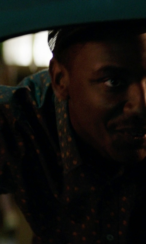 Jerrod Carmichael with L-R-G Hound Doggie Shirt in Neighbors