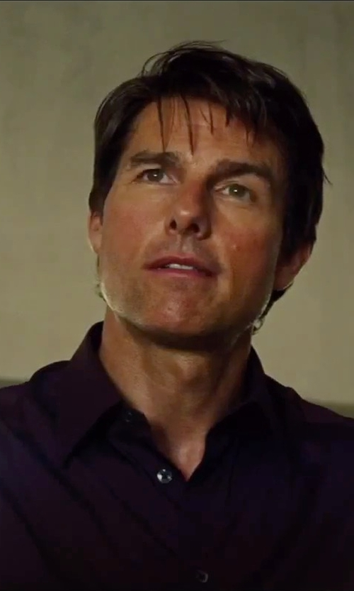 Tom Cruise with Dolce & Gabbana End-on-End Slim Shirt in Mission: Impossible - Rogue Nation
