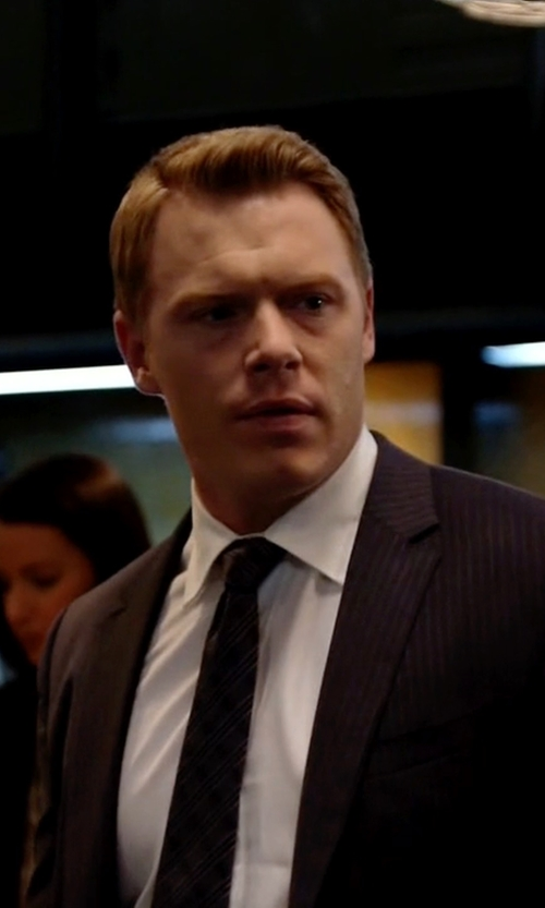Diego Klattenhoff with Gieves & Hawkes Cotton-Blend Poplin Shirt in The Blacklist