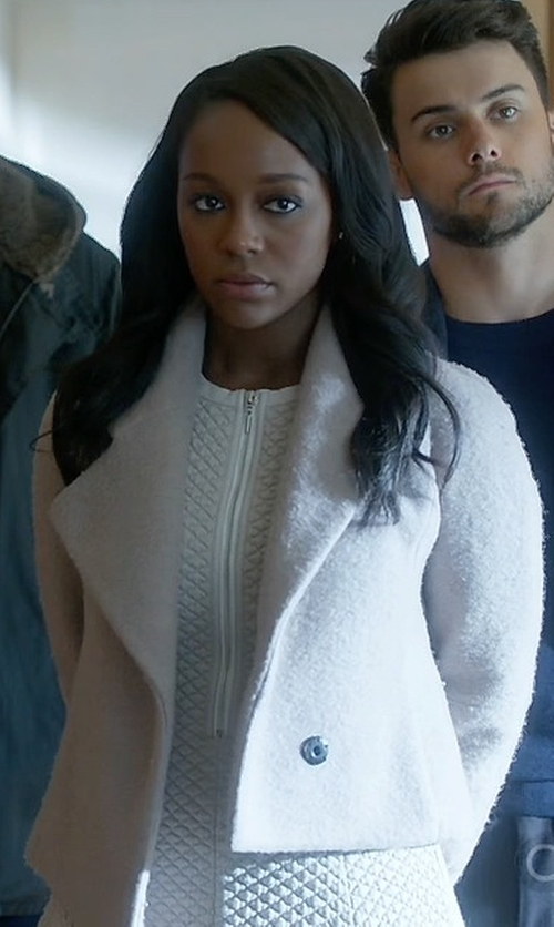 Aja Naomi King with Opening Ceremony Morgane Cropped Jacket in How To Get Away With Murder