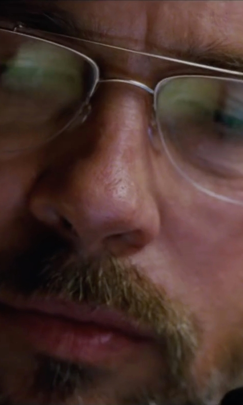 Brad Pitt with Silhouette Titan Dynamics Nylor Eyeglasses in The Big Short