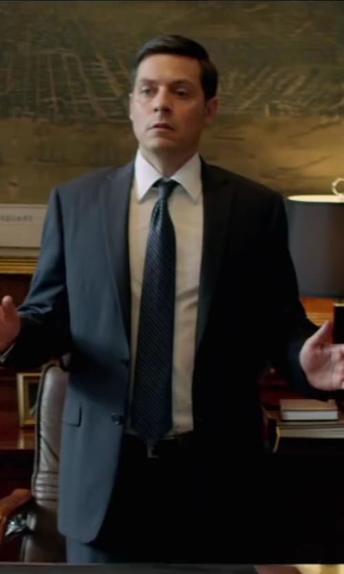 Bruce Ramsay with Z ZEGNA pointed collar dress shirt in Brick Mansions