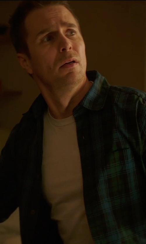 Sam Rockwell with Calvin Klein Cotton Crewneck T-Shirt in Poltergeist