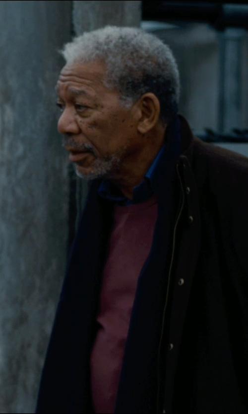 Morgan Freeman with Acne Studios 'Alaska' Fringed Scarf in The Dark Knight Rises