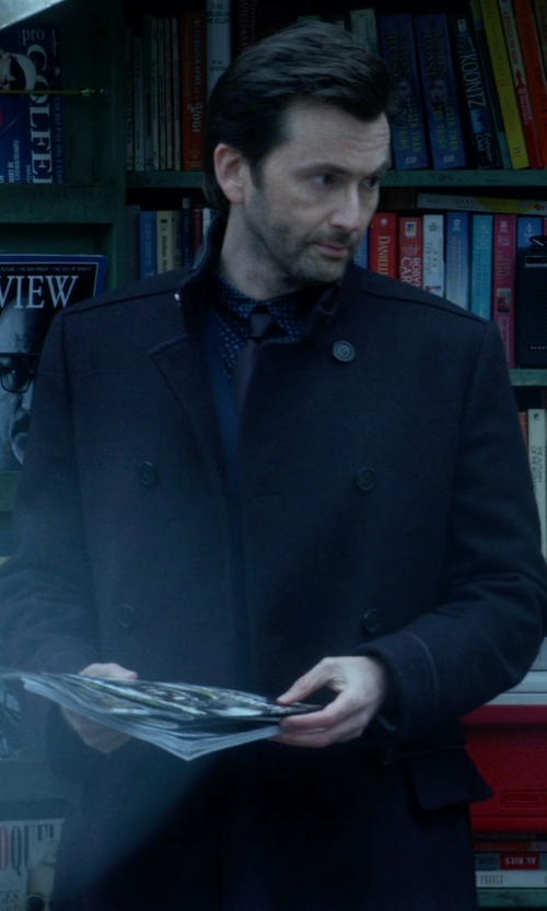 David Tennant with Fay   Double Breasted Coat in Jessica Jones