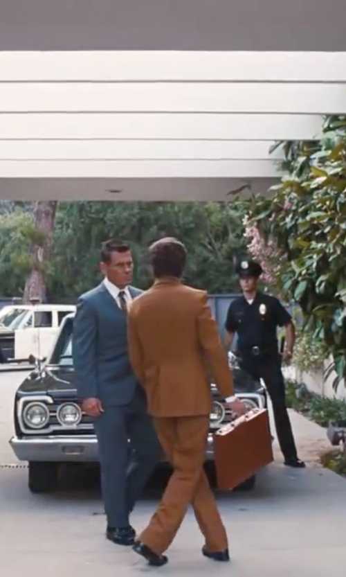 Josh Brolin with Polo Ralph Lauren White Cotton Shirt in Inherent Vice
