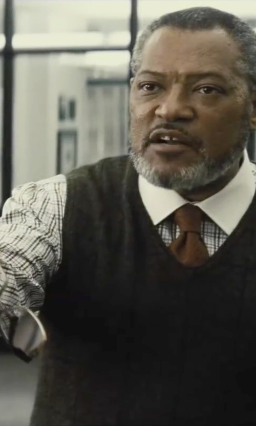 Laurence Fishburne with Ray-Ban Clubmaster Optics Eyeglasses in Batman v Superman: Dawn of Justice
