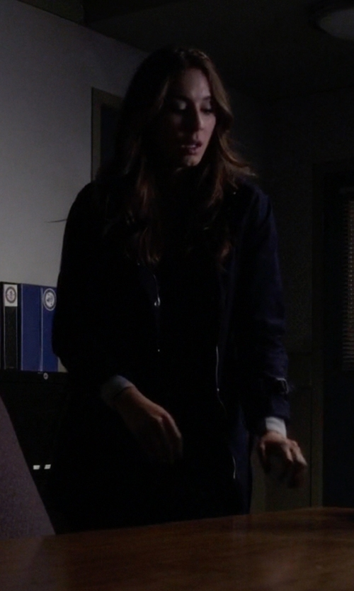 Troian Bellisario with Volcom 'Stand Up' Jacket in Pretty Little Liars