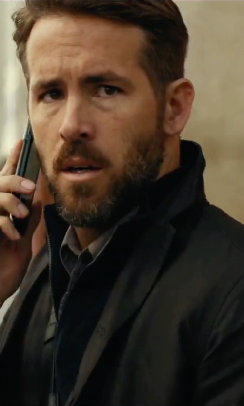 Ryan Reynolds with Kenneth Cole New York Reversible Bomber Jacket in Criminal