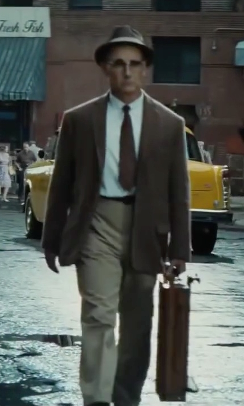 Mark Rylance with Lauren Ralph Lauren Solid Linen Dress Pants in Bridge of Spies