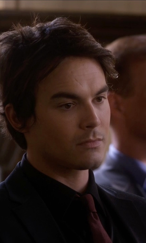 Tyler Blackburn with Brooks Brothers Solid Repp Tie in Pretty Little Liars