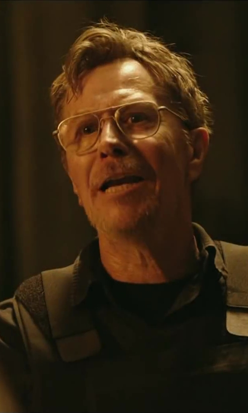 Gary Oldman with 7 DIAMONDS 'All American' Trim Fit Cotton Blend Sport Shirt in Dawn of the Planet of the Apes