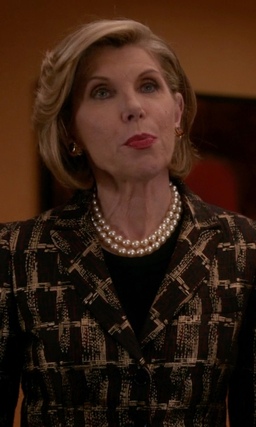 Christine Baranski with Max Mara Single Breasted Blazer in The Good Wife