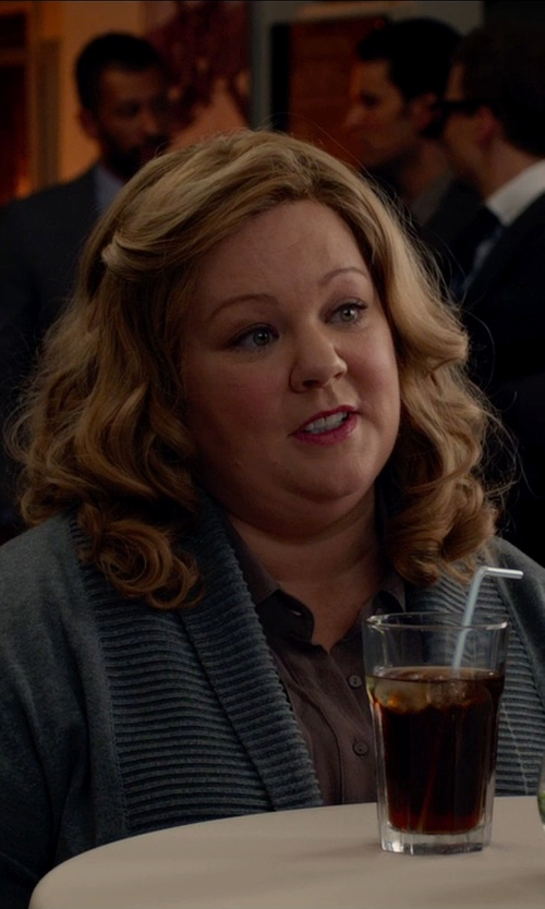 Melissa McCarthy with Maxmara Milo Silk Blouse in Spy