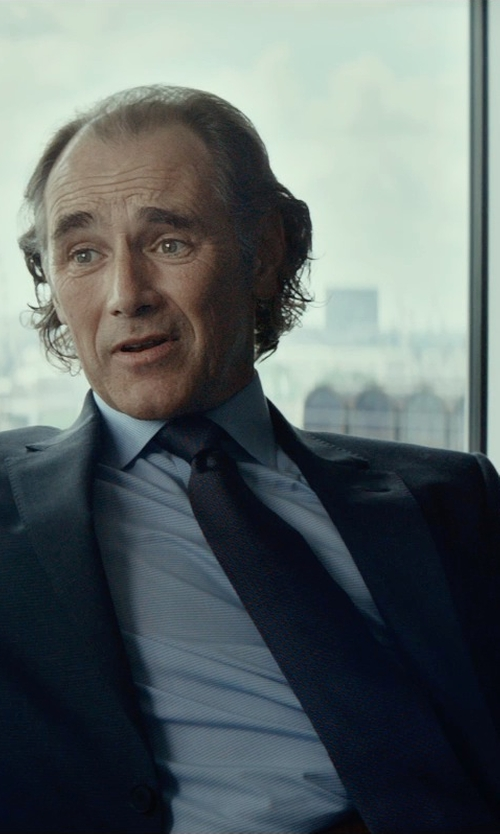 Mark Rylance with Dolce & Gabbana Martini Polka-Dot Silk Tie in The Gunman