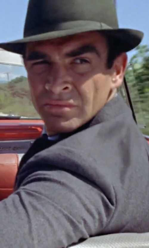 Sean Connery with Bailey 'Wynn' Packable Fedora Hat in Dr. No
