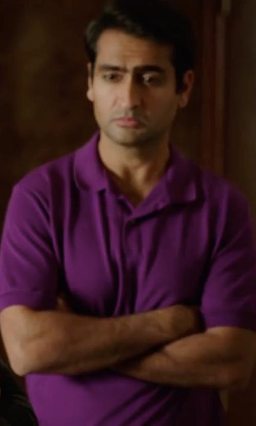 Kumail Nanjiani with Michael Kors Sleek MK Polo Shirt in Silicon Valley