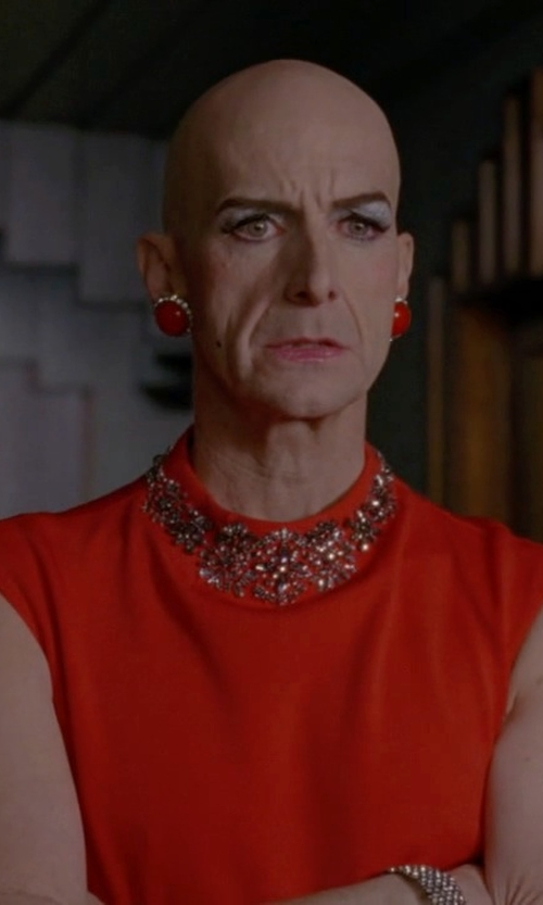 Denis O'Hare with Charter Club Embellished Sleeveless Shift Dress in American Horror Story