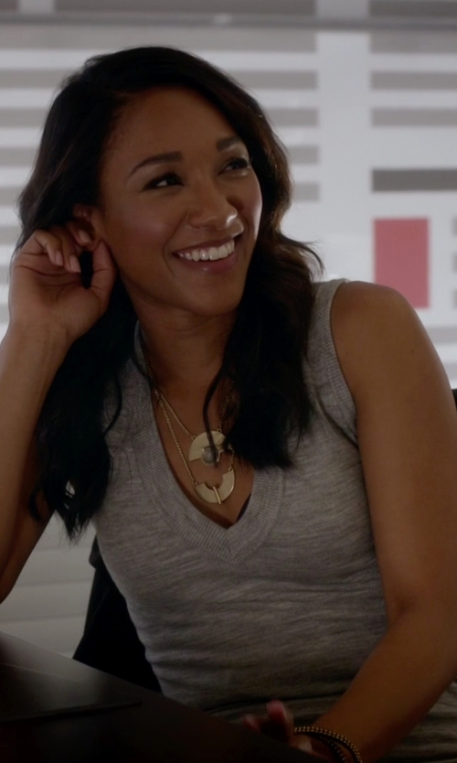 Candice Patton with Wilfred Désy Dress in The Flash