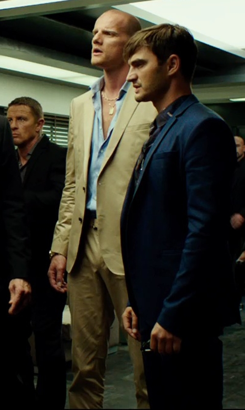 Unknown Actor with Brooks Brothers Cotton Twill Fitzgerald Fit Suit in The Transporter: Refueled
