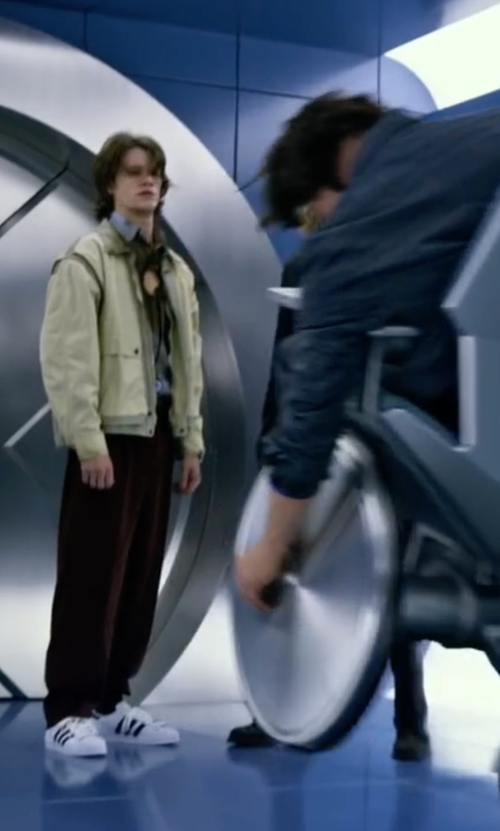 Lucas Till with Bryan Husky Chino Casual Pants in X-Men: Apocalypse