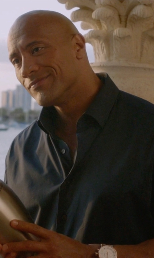 Dwayne Johnson with ESQ Movado Capital Analog Display Watch in Ballers