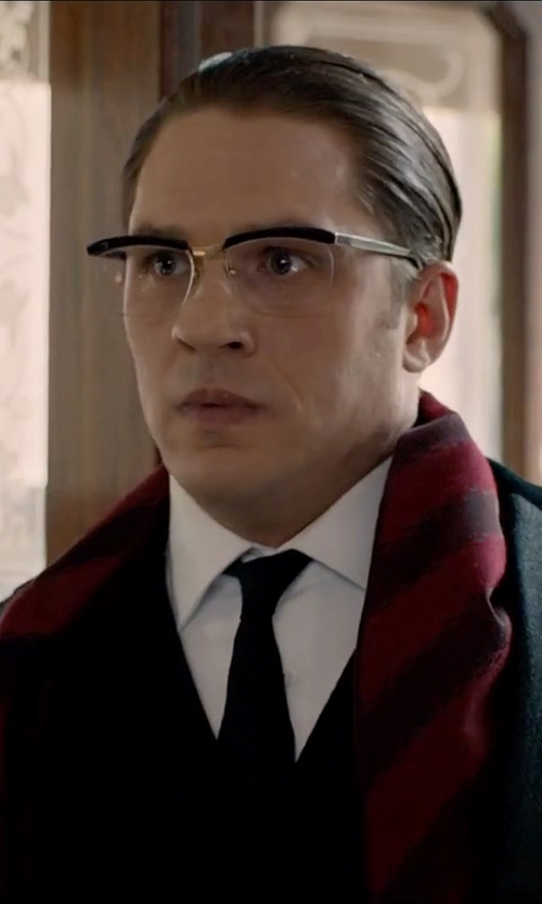 Tom Hardy with Paul Smith Red Nep Block Donegal Wool Scarf in Legend