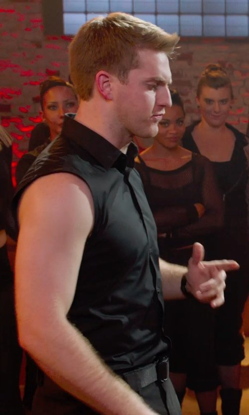 Austin Lyon with Saks Fifth Avenue Collection Woven Cotton Belt in Pitch Perfect 2