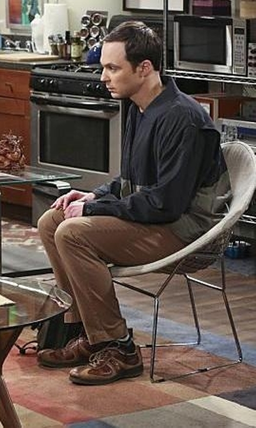 Jim Parsons with Nautica Colorblock Reversible Jacket in The Big Bang Theory