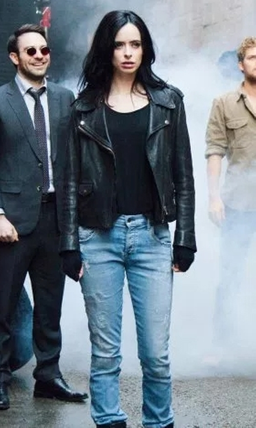 Krysten Ritter with Citizens Of Humanity Emerson Slim Boyfriend Echo Jeans in Marvel's The Defenders