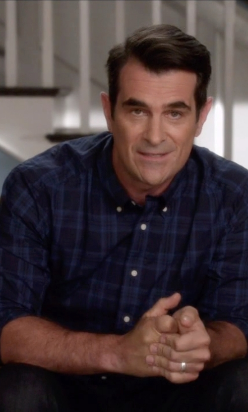 Ty Burrell with Mango Classic-Fit Check Shirt in Modern Family