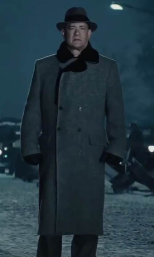 Tom Hanks with Brooks Brothers Fur Collar Chesterfield Coat in Bridge of Spies