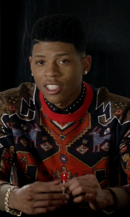 Bryshere Y. Gray with Givenchy Persian Print Cotton Sweatshirt in Empire