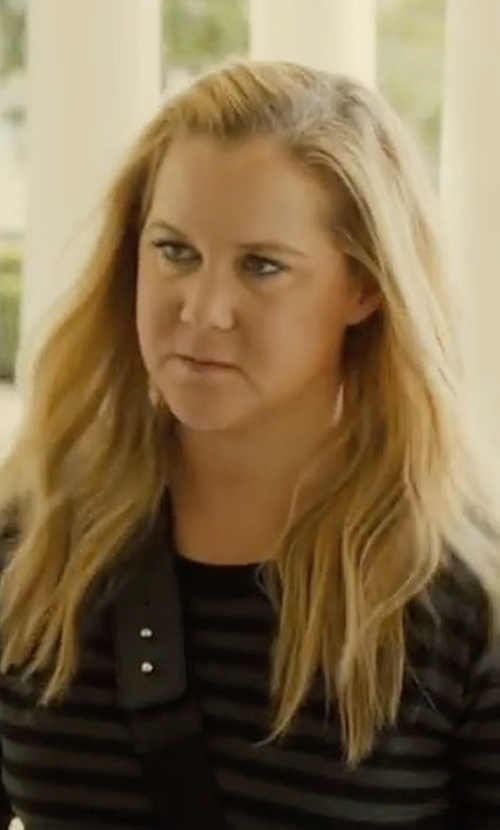 Amy Schumer with Eileen Fisher Striped Merino Wool Sweater in Snatched