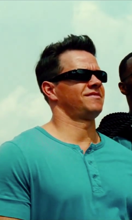 Mark Wahlberg with Spy Optic Logan Wrap Sunglasses in Pain & Gain
