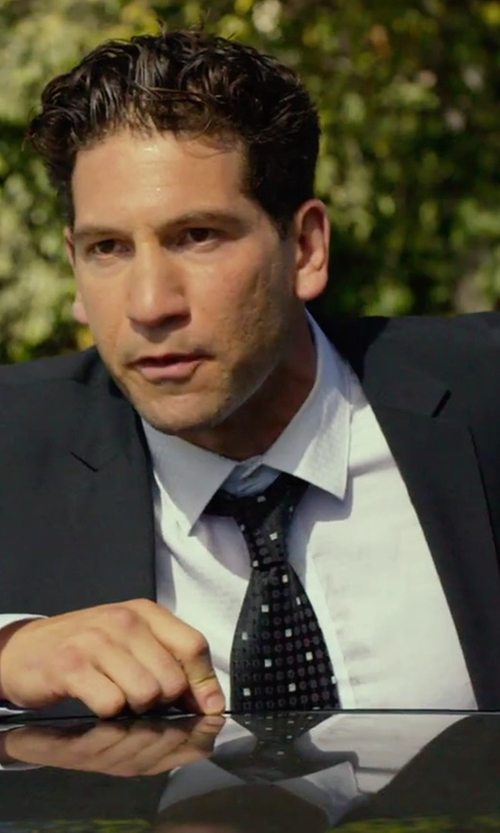 Jon Bernthal with Armani Collezioni Solid Oxford Dress Shirt in We Are Your Friends
