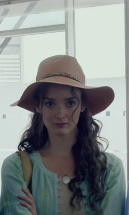 Charlotte Le Bon with ZWE Hollow Out Round Collar Short Sleeve Jacket in The Walk