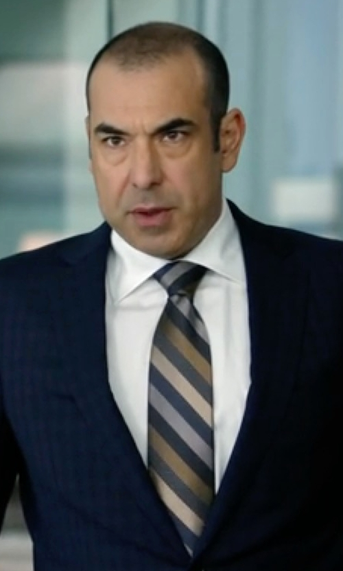 Rick Hoffman with Turnbull & Asser Solid Poplin Dress Shirt in Suits