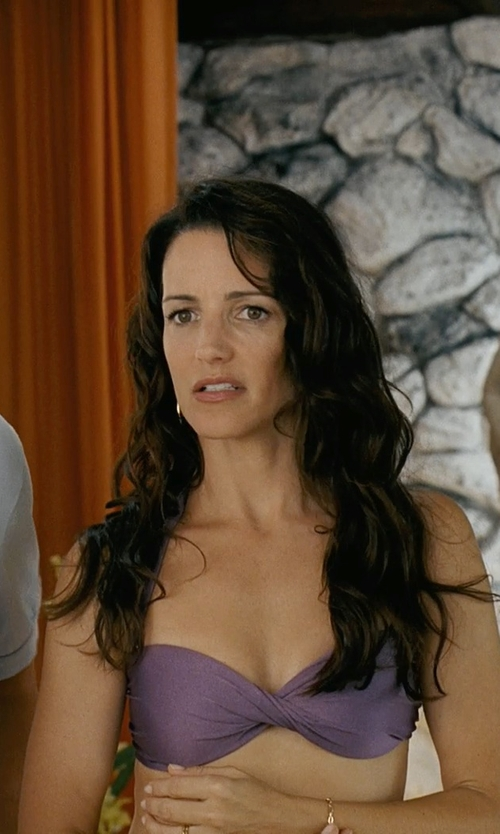 Kristin Davis with Seafolly Women's Shimmer Twist Bandeau Bikini Top in Couple's Retreat
