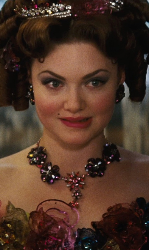 Holliday Grainger with Sandy Powell (Costume Designer) Custom Made Stud Rhinestone Earrings (Anastasia) in Cinderella